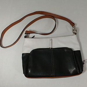 Tignanello Black & White Shoulder Bag